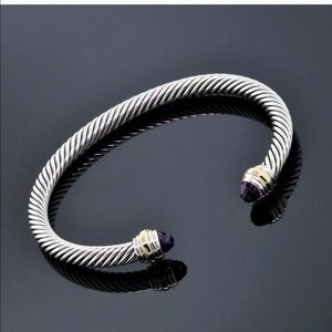 David Yurman 5mm amethyst cable bracelet